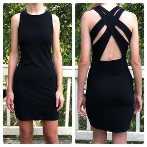 "Susana Monaco ""Olivia"" black cross back dress/S"